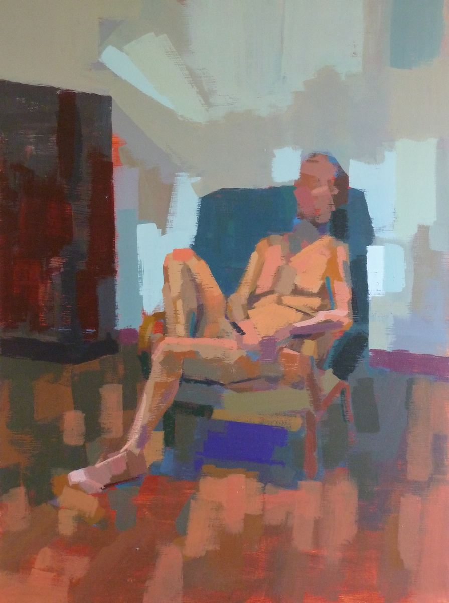 Painting of man seated in chair