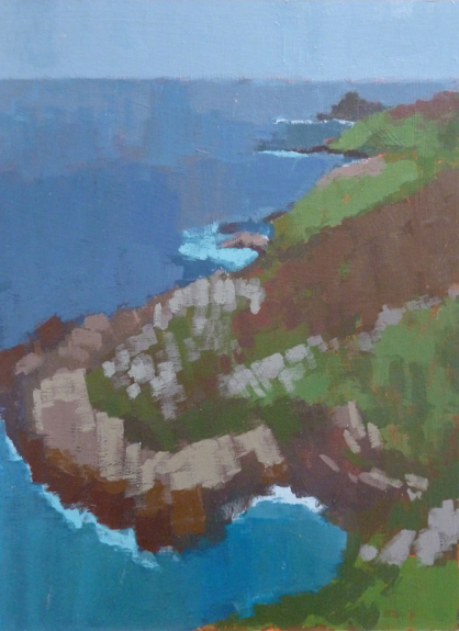Painting of the view towards Gurnard's Head
