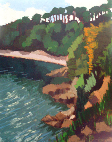Painting of Durgan Beach