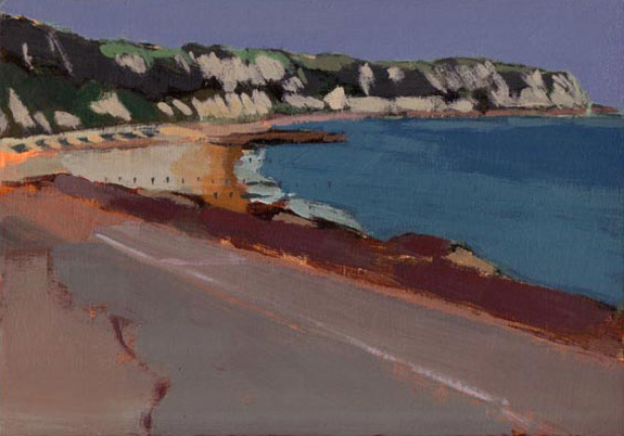 Painting of cliffs and beach near Folkestone