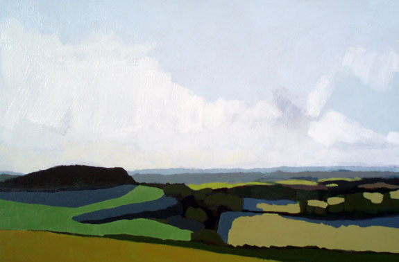 Painting of the Kent Downs