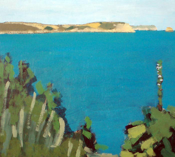 Painting of Nare Head from Portscatho