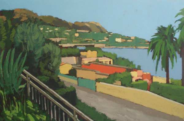 Evening view of Villefranche sur Mer from L'Agrianthe