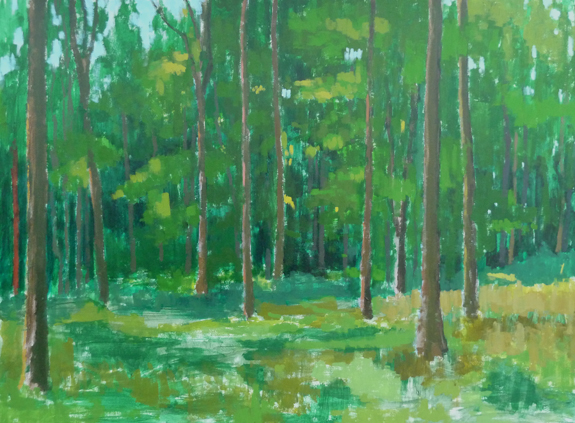Painting of Wytham Woods