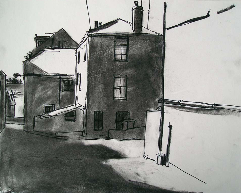sketch of St Ives street