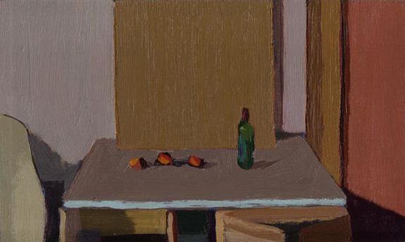 Still life: Bottle and apples 2